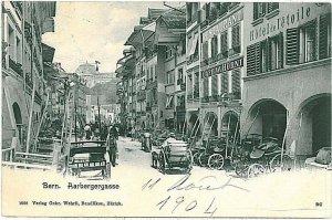 Ansichtskarten Schweiz VINTAGE POSTCARD: SWITZERLAND -   BERN 1904 - NICE!