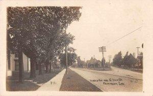 Fairmount Indiana South Main Street Real Photo Vintage Postcard JI658337