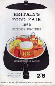 Food Fair Olympia Grand Hall 1962 Eating Adventures London Cookery Exhibition...