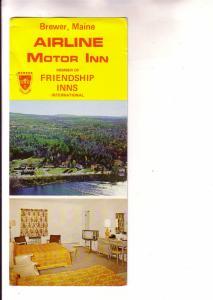 Oversize Twoview, Beach, Bedroom, Map, Airline Motor Inn, Friendship, Brewer ...