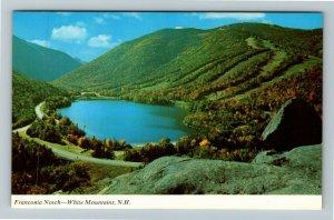 Franconia Notch NH- New Hampshire, Echo Lake, Artists Bluff, Chrome Postcard