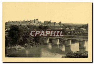 Old Postcard Vue Generale North West Carcassonne