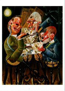 Skat Players - Die Skatspieler by Otto Dix Art Postcard