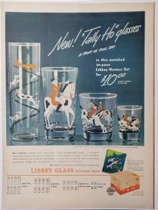 1946 Libbey Glassware LIFE Magazine Ad One Page Color  EXL10037