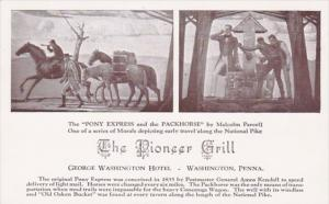 Pennsylvania Washington Pioneer Grill Murals Pony Express and The Packh...