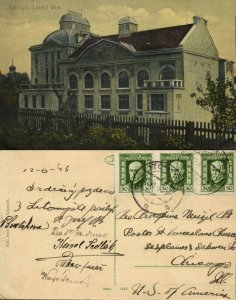 czech, LITOMYŠL, Lidový Dům, Community Center (1925) Postcard