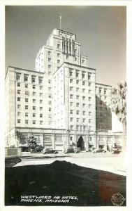 Autos  Frasher 1940s RPPC Photo Postcard Westward Ho Hotel Phoenix Arizona 5561
