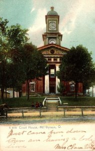 Ohio Mt Vernon Court House 1906 Rotograph