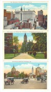 3 PC LOT, Assorted Views Of Philadelphia, PA, 10-20s