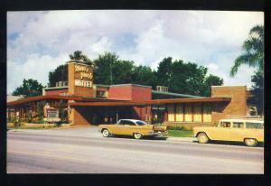Orlando, Florida/FL Postcard, Davis Park Motel, Highways 17-92-50, Old Cars