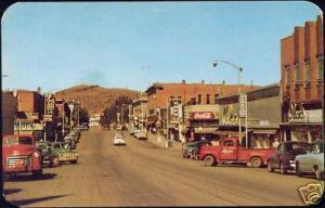 Rawlins, Wyoming, Cedar Street, Monument, Truck Car 70s