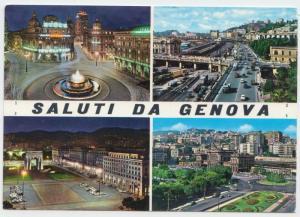 Saluti da GENOVA, Italy, multi view, unused Postcard