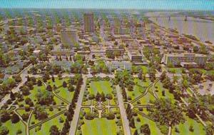 Louisiana Baton Rouge State Capitol Aerial View