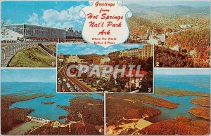 Old Postcard Greetings from Hot Springs Natl Park Ark Where The World Plays Bath