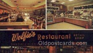 St Petersburg Florida USA Wolfies Restaurant Unused