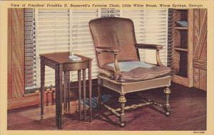 View Of President Franklin D Roosevelts Favorite Chair Little White House War...