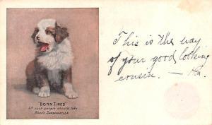 Medicine Advertising Old Vintage Antique Post Card Born Tired, Hood's Sa...