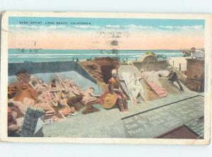 W-Border SAND ARTIST AT THE BEACH Long Beach - Los Angeles California CA hp8786