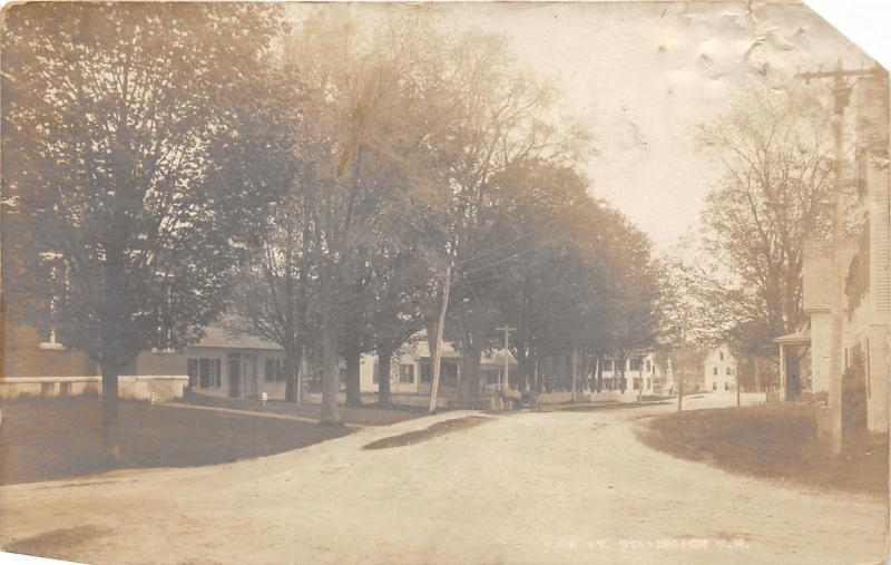 Bennington New Hampshire~Main Street~Residential Area~Horse & Buggy~c1910 RPPC