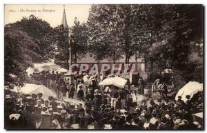 Old Postcard forgiveness in Brittany Marche (Lorient?)