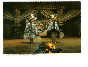 Indian Dancers, Alert Bay, British Columbia, Totem Poles
