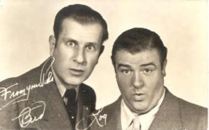 Abbott & Costello Actor / Actress Postcard Post Card Old Vintage Antique Post...