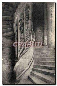 Old Postcard Chateau of Chateaudun Noyan Staircase
