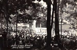 Angola Indiana Buck Lake Ranch Real Photo Antique Postcard K67860