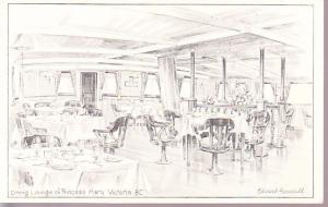 Dining Lounge of Princess Mary - Victoria, BC