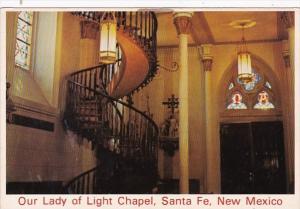 New Mexico Santa Fe Our Lady Of Light Chapel Interior