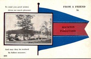 Pennsylvania Rockton From A Friend Pennant Series