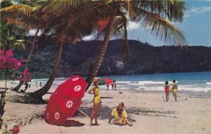 Beach along Maracas Bay near Port of Spain, Trinidad, PU-1952