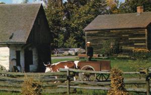 Canada - Ontario, Morrisburg. Upper Canada Village. Ox Cart, Blacksmith's Sho...