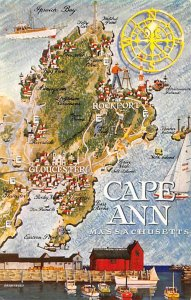 Maps Cape Ann Massachusetts, USA Unused