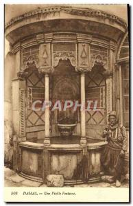 Old Postcard Damascus An Old Fountain
