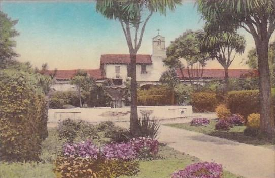 California San Juan Capistrano North Building Mission School And Patio  Founta.