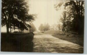 Thetford VT Road & Bldgs c1910 Real Photo Postcard
