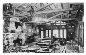Pacific Palisades California~Will Rogers Ranch Home Interior~1940s RPPC-Postcard