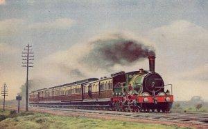 Great Western GWR Iron Duke Train at Uffington 1890 Postcard