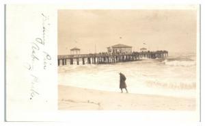 Early 1900s RPPC Fishing Pier, Asbury Park, NJ Real Photo Postcard