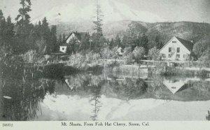 C.1910 Mt. Shasta, From Fish Hat Cherry, Sisson, Cal. Vintage Postcard P105