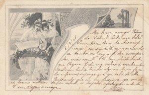 2 Art Nouveau women , 1900