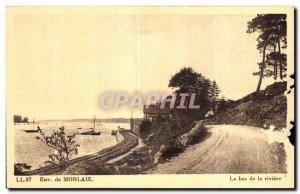 Old Postcard Environs de Morlaix The bottom of the river