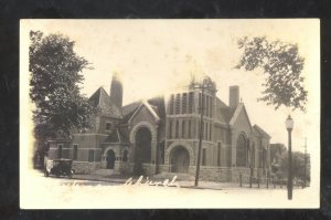 RPPC BEATRICE GAGE COUNTY NEBRASKA CHURCH BUILDING VINTAGE REAL PHOTO POSTCARD