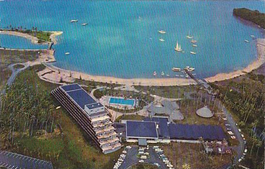 Aerial View of Maeva Beach Hotel, Tahiti, 40-60s