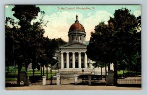 Montpelier VT-Vermont, State Capitol, Vintage Postcard