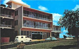 Las Mesas Mayaguez Puerto Rico Bella Vista Hospital Old Cars Postcard