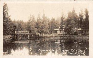G28/ Superior Wisconsin RPPC Postcard c1950s Summer White House Bridge
