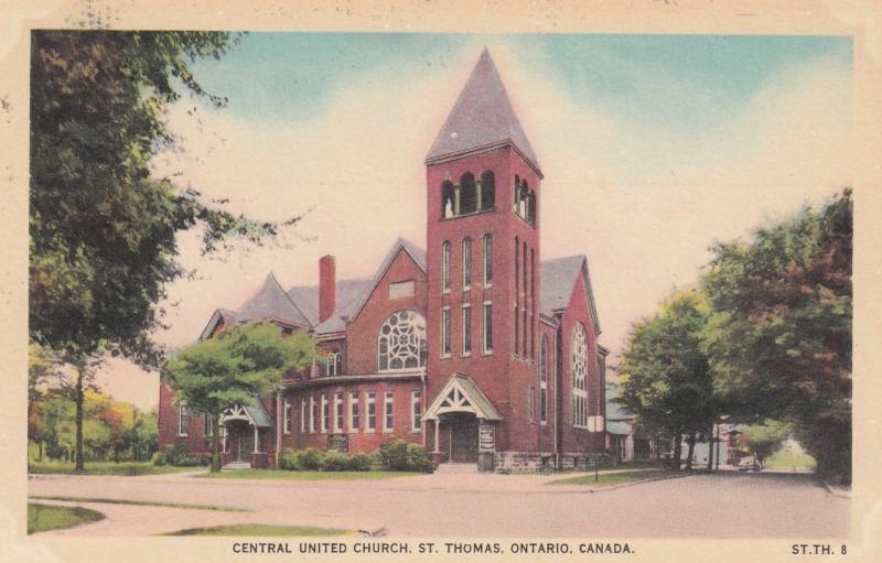 ST THOMAS , Ontario , Canada , 1910-30s ; Central United Church