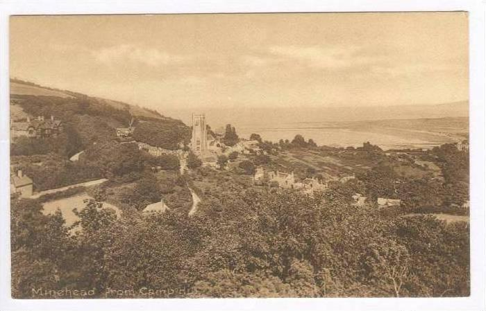 Minehead From Camp Hill, Somerset, England, UK, 1900-1910s